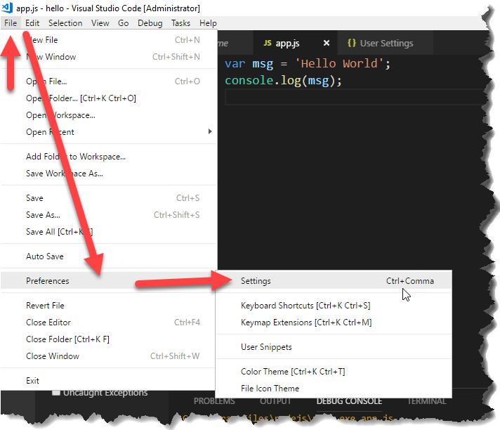NET Walker: VS Code的字體大小